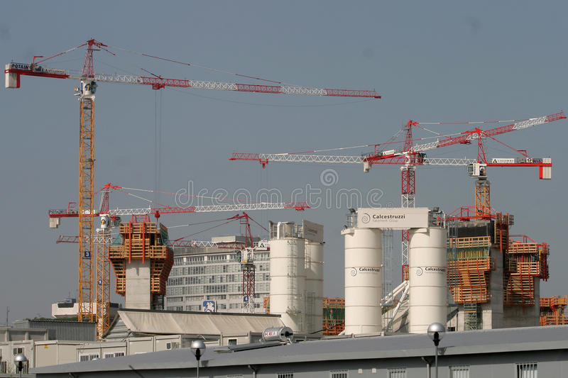 Download Building construction site editorial photography. Image of architecture - 18327542