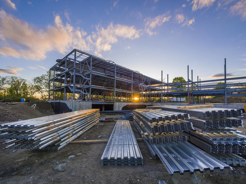 Building construction site royalty free stock photo