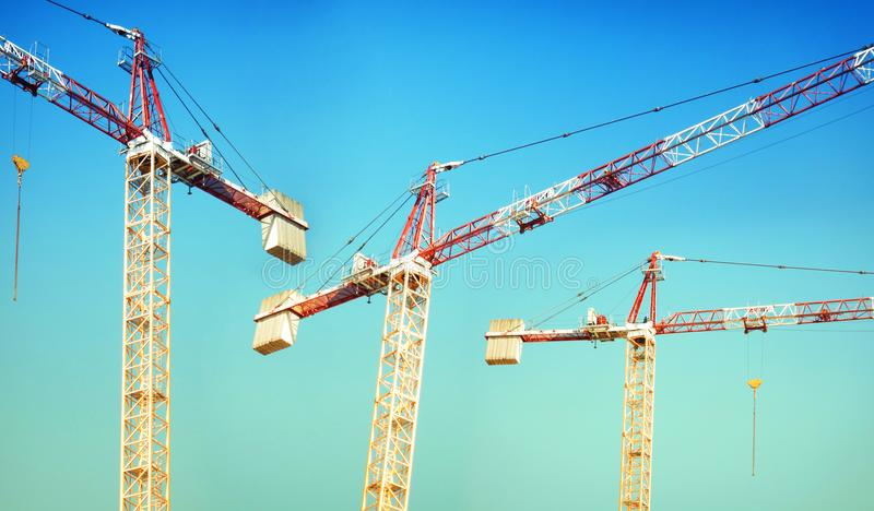Building construction Site with crane.  stock photos