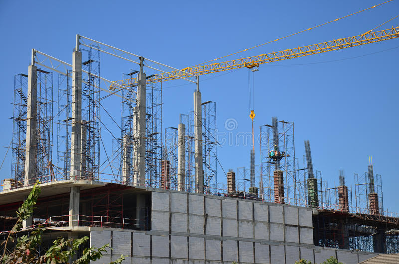 Building construction Site at Thailand stock photo