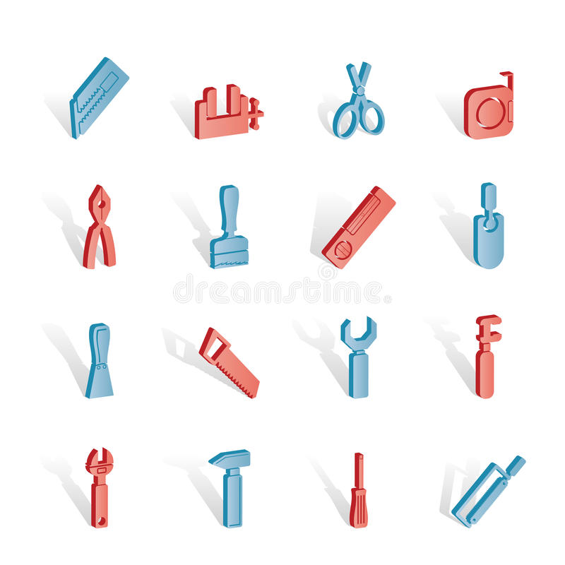 Download Building And Construction Tools Icons Stock Vector - Image: 14140384