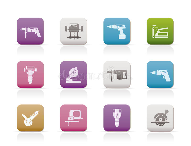 Download Building And Construction Tools Icons Stock Vector - Illustration: 16487601