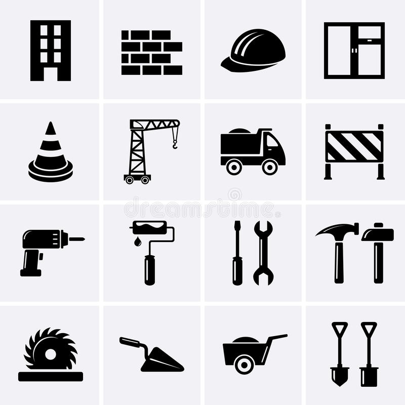 Building, construction and tools icons. Vector vector illustration