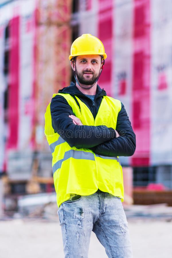 Building construction worker engineer stock images