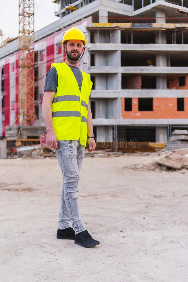 Building construction worker engineer royalty free stock photos