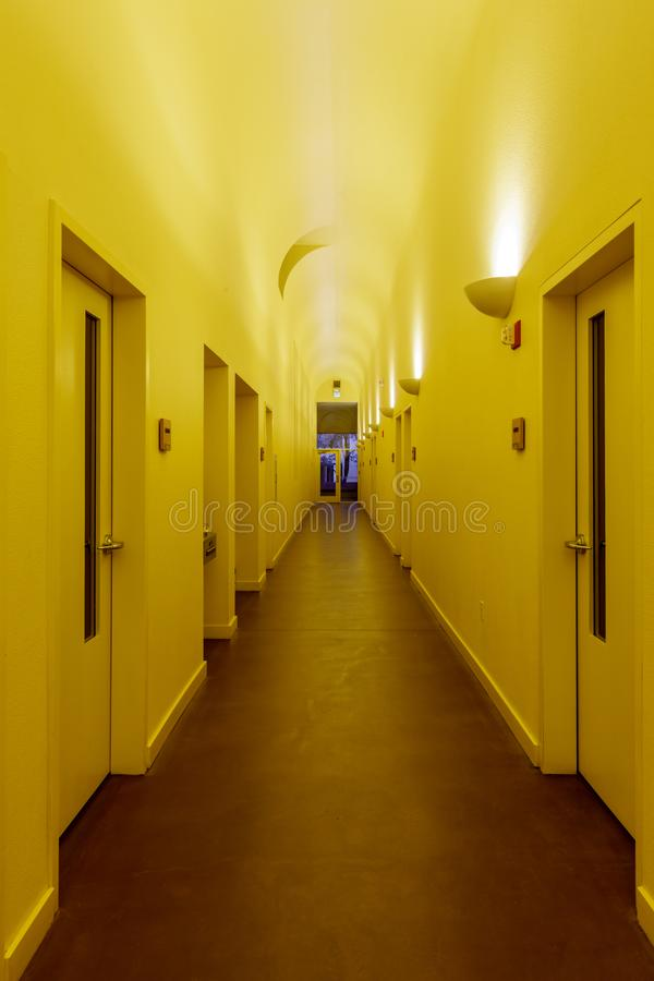 Dormitory Hallway royalty free stock images
