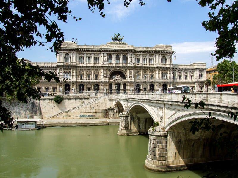 Building of court Corte Suprema di Cassazione in Rome in Italy. stock photo