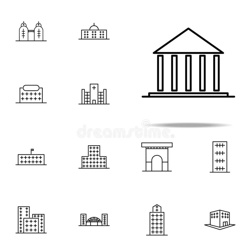 Building, court icon. Building icons universal set for web and mobile. On white background stock illustration