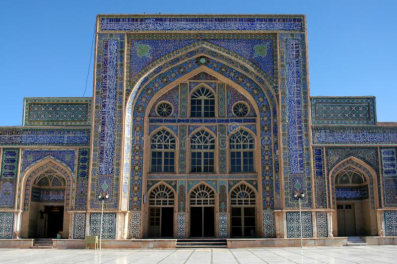 A building in the courtyard of the Great Mosque of Herat in Afghanistan stock photo