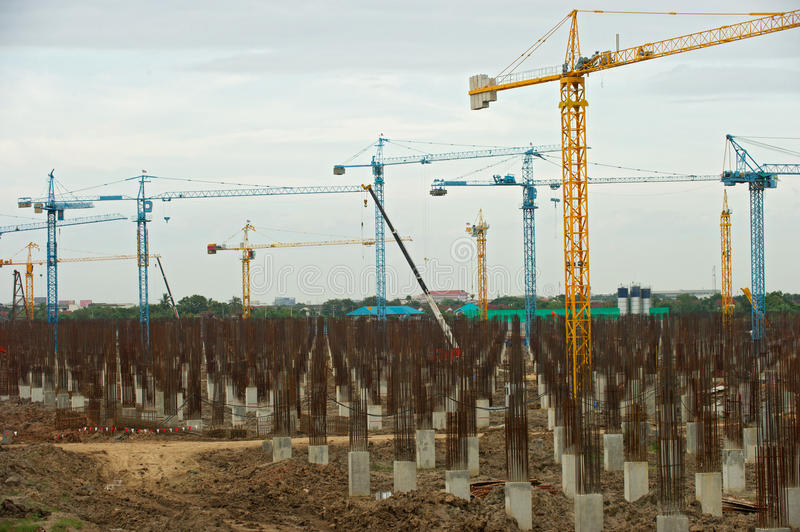 Download Building Crane And Building Stock Photo - Image of buildings, site: 28791710
