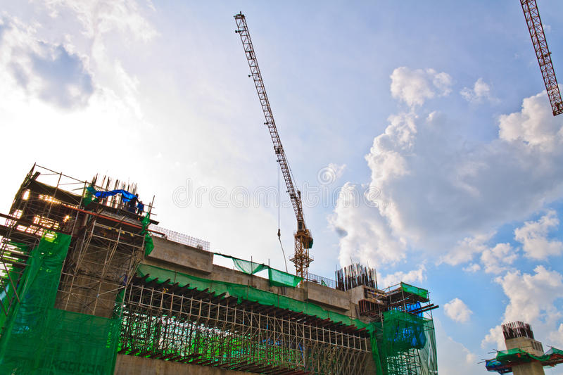 Download Building Crane And Building Under Construction. Stock Image - Image: 25615747