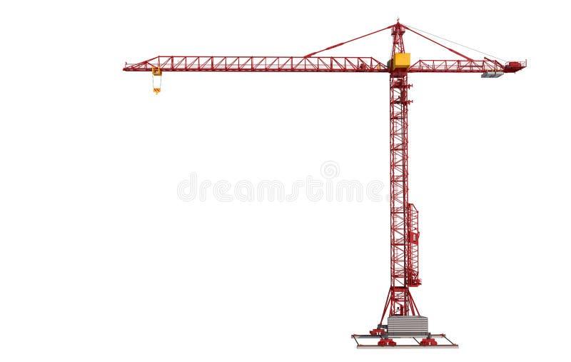 Building crane isolated on white background. Construction royalty free illustration