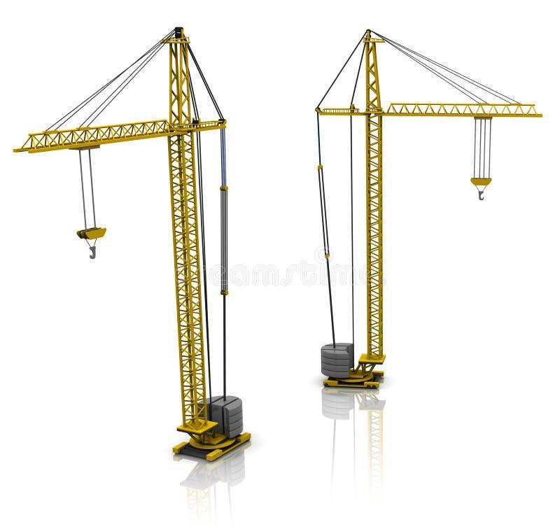 Download Building cranes stock illustration. Image of vehicle - 15203816