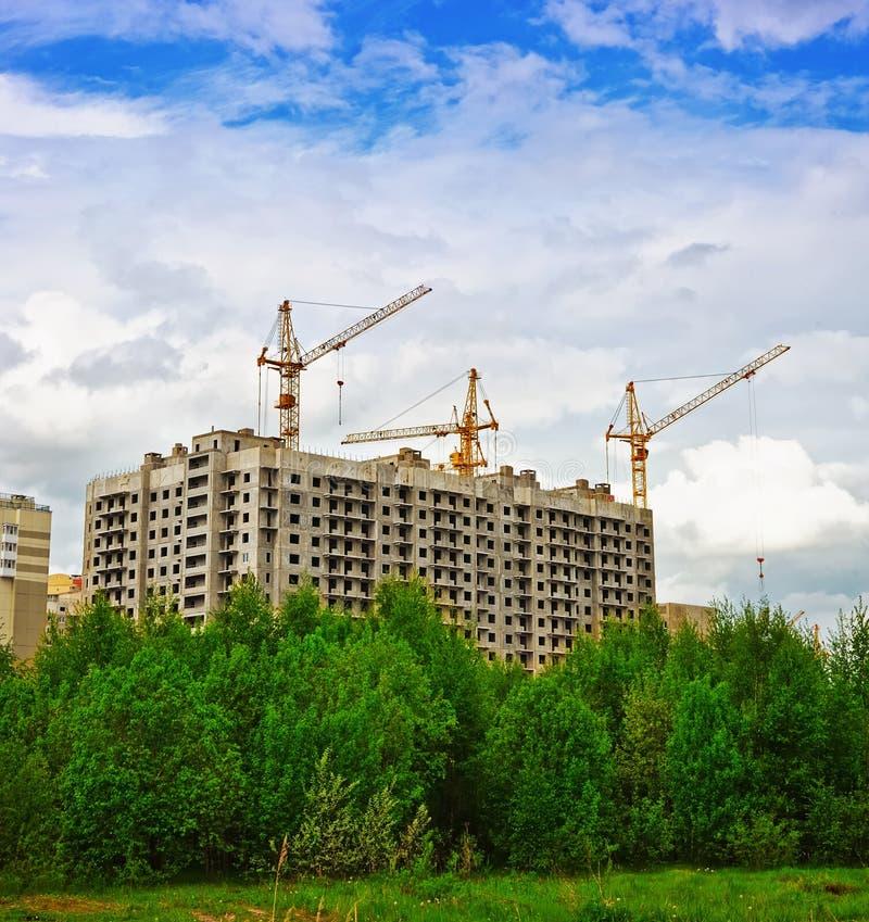 Building cranes royalty free stock photo