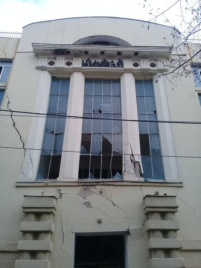 Building damaged royalty free stock photo