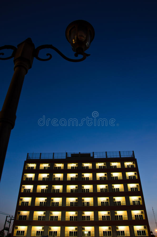 Download Building In Dark Sky Royalty Free Stock Photo - Image: 27366875