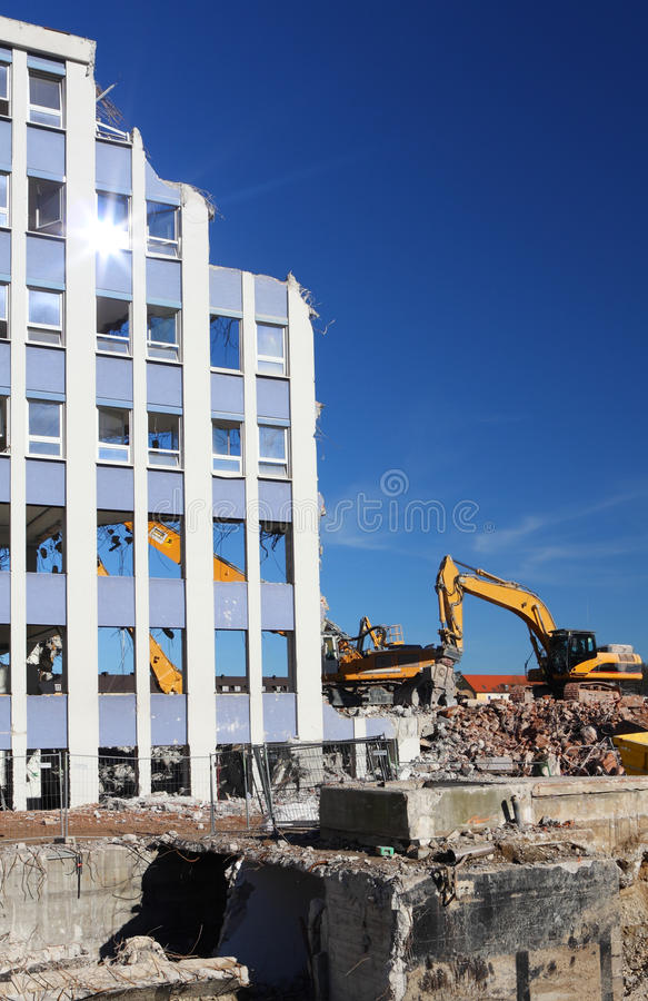 Download Building demolition stock photo. Image of destroy, ruination - 18296258