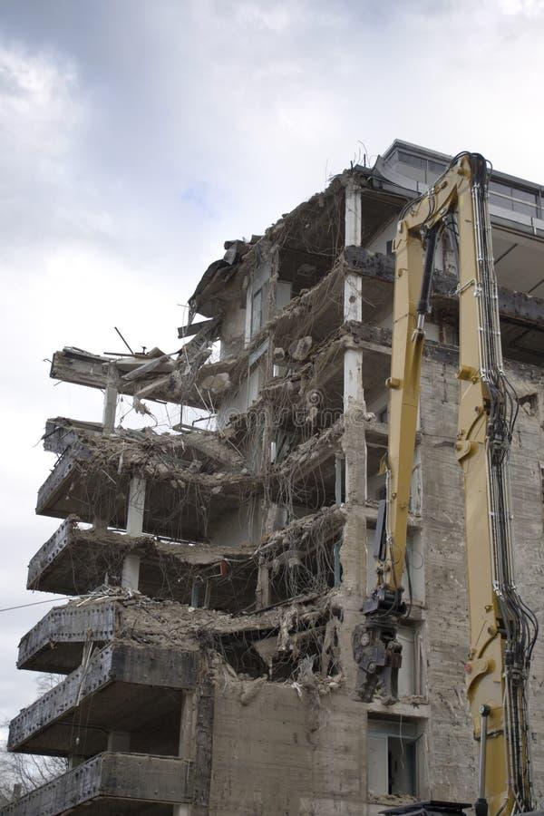 Building Demolition. Demolition of a on old building stock images