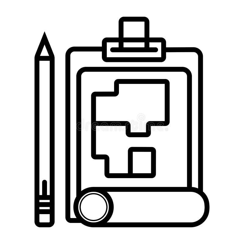 Building design icon. Vector illustration stock illustration