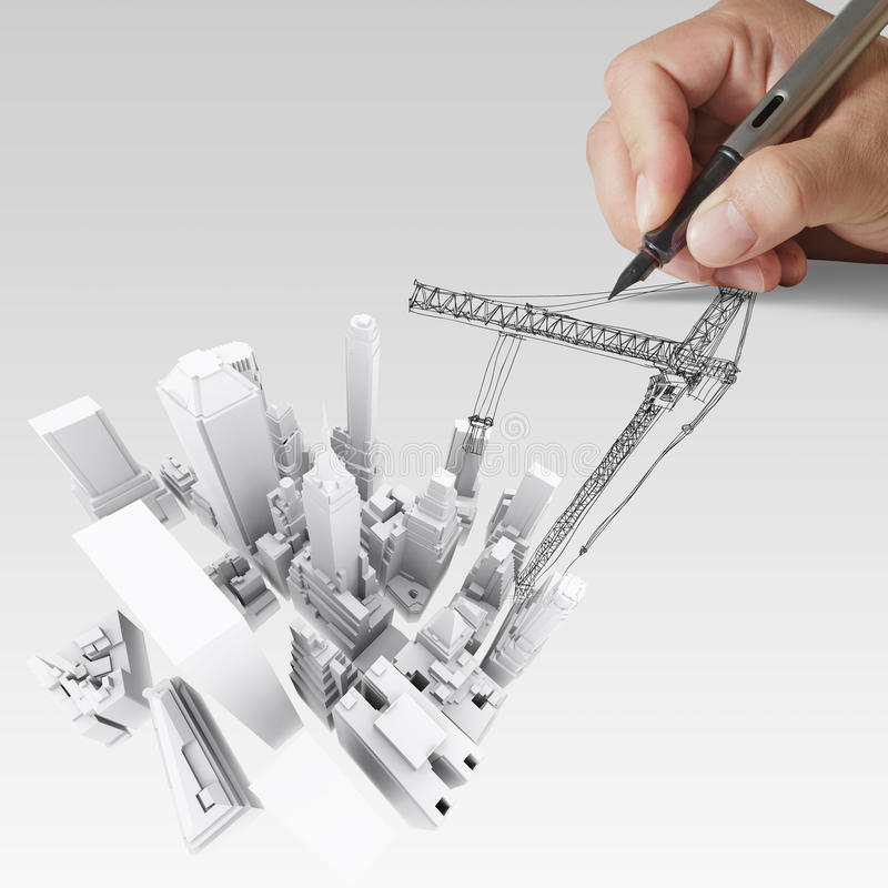 Building development concept stock illustration