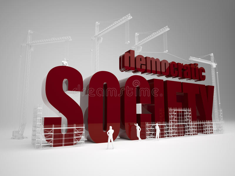 Building Domocratic Society Royalty Free Stock Photography