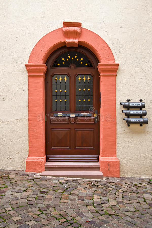 Building door in Rottweil, Germany royalty free stock image