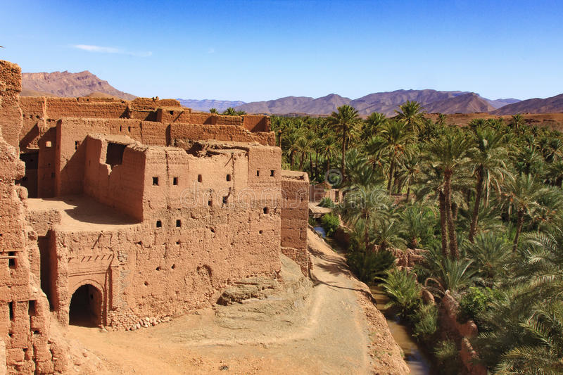 Building in Draa valley stock images