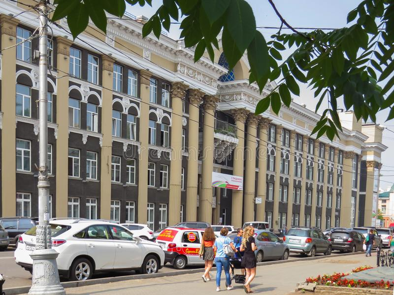 The building of the East Siberian railway. The building was designed by architect D. Holstein in the 50s of the last century stock image