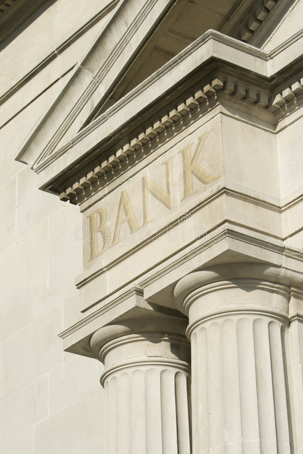 Download Building Edifice With BANK Engraving. Stock Image - Image of financial, bank: 7781823