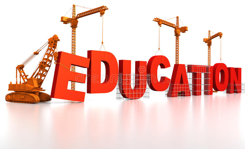 Download Building an Education stock illustration. Image of orange - 17155928