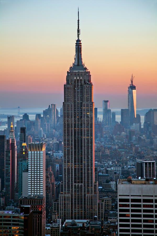 building empire state sunset στοκ φωτογραφία με δικαίωμα ελεύθερης χρήσης