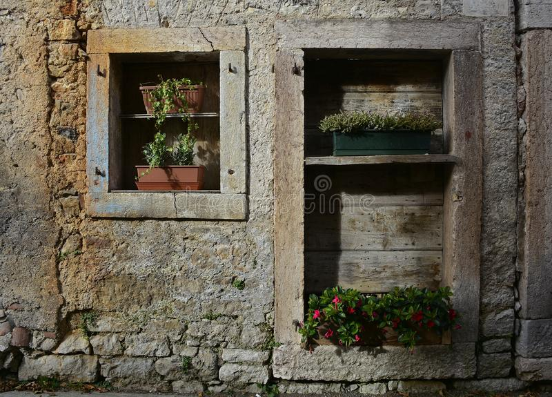 Building in Erto. A derelict building in hill village of Erto in Friuli Venezia Giulia, north east Italy. The village is famous locally for having being royalty free stock photo