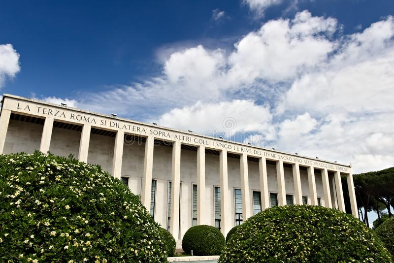 Building in the Eur district of Rome in an Italian rationalist s stock photography