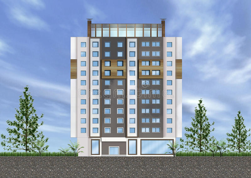 Download Building exterior stock illustration. Image of concept - 11276631