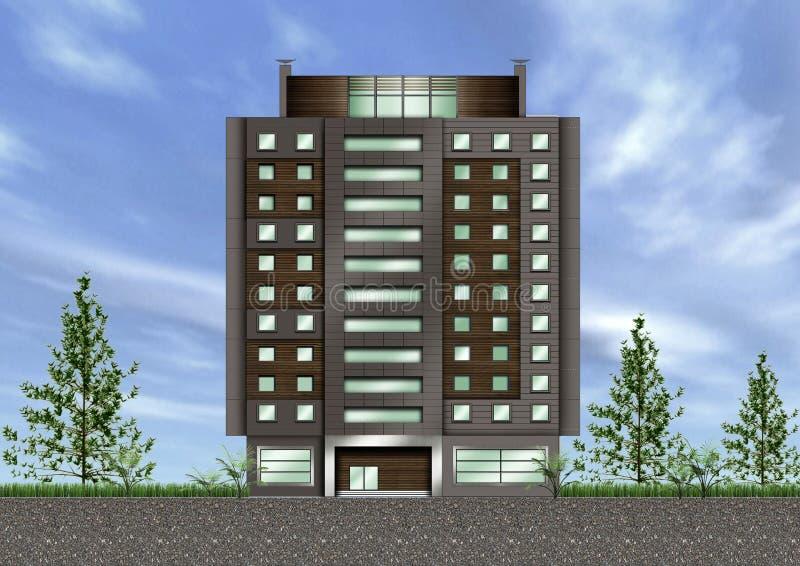 Building exterior royalty free illustration