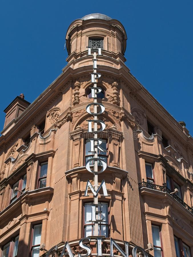 Building exterior of the famous Hippodrome Casino stock image