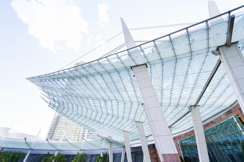 Building exterior. View of building exterior of contemporary building stock image