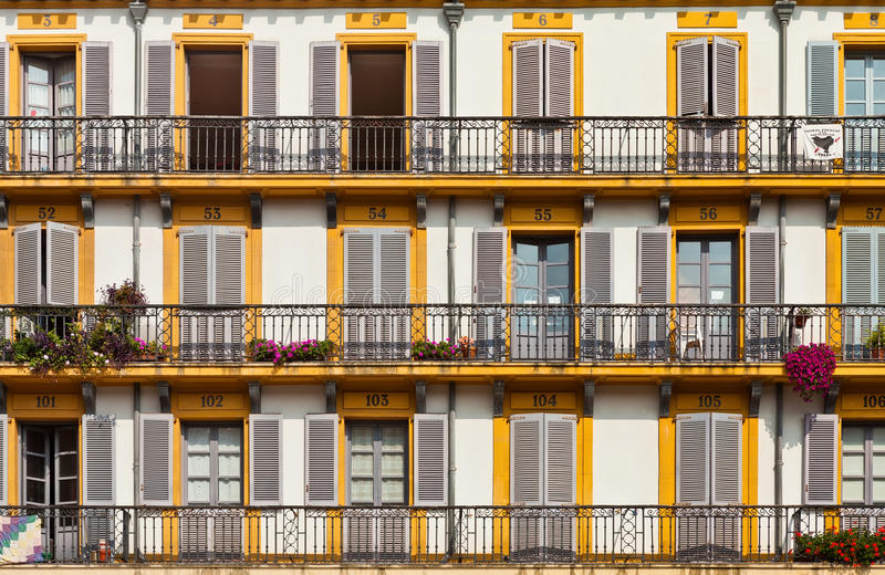 Download Building Exterior With Windows And Balconies Editorial Stock Photo - Image: 26808628