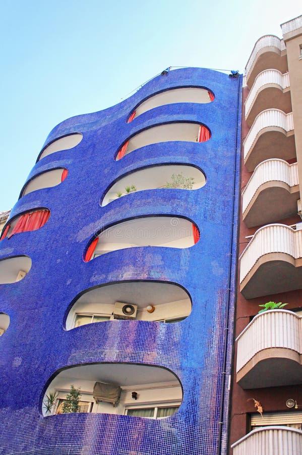 Building facade in Barcelona, Spain stock photography