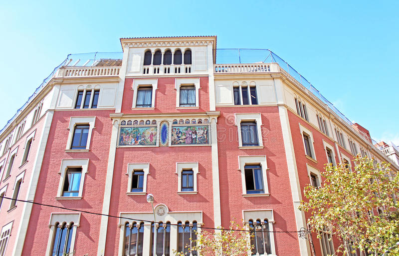 Building facade in Barcelona, Spain royalty free stock images
