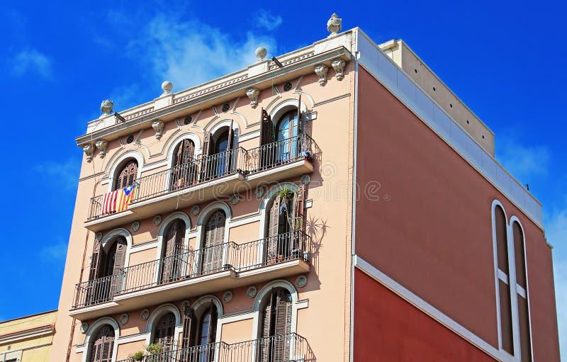 Building facade in Barcelona, Spain royalty free stock photos