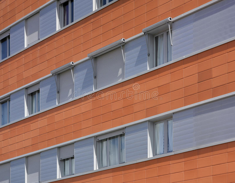 Building facade with ceramic coating. royalty free stock images