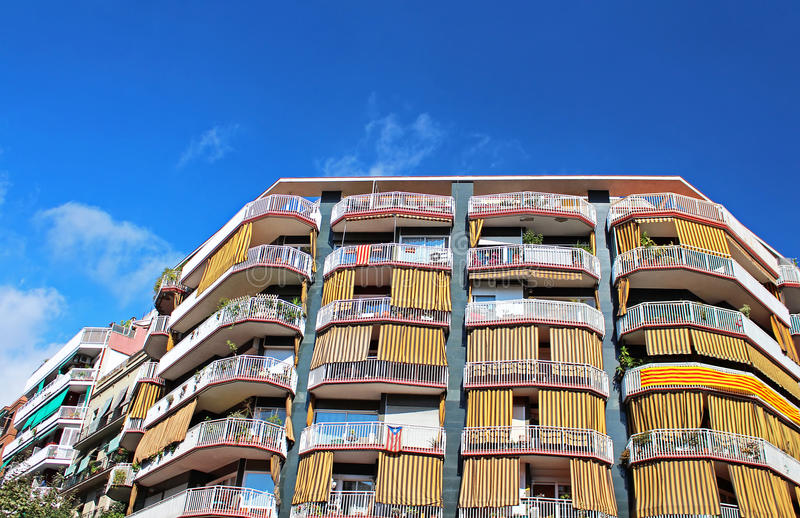 Building facade in the city of Barcelona royalty free stock photos