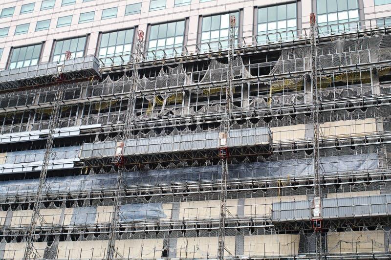 Building facade renovation stock photos
