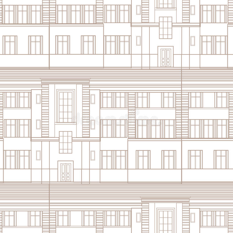 Building facade seamless pattern city architectural retro blueprint download building facade seamless pattern city architectural retro blueprint stock illustration illustration of company malvernweather Images