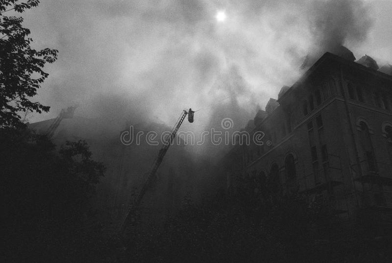 Download Building on fire stock photo. Image of apartment, panic - 20371228