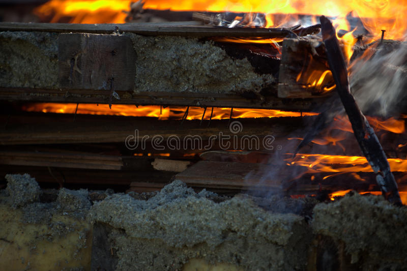 Building Fire royalty free stock photos