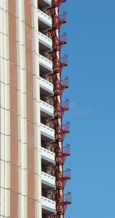 Building With An Fire-escape Royalty Free Stock Photos