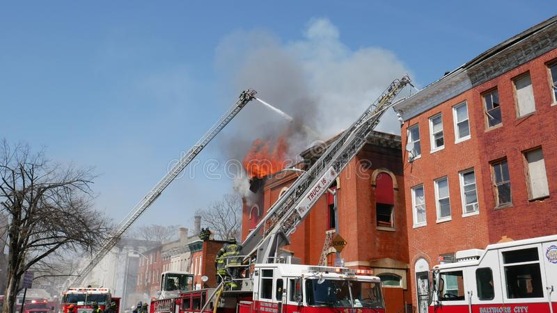 Building Fire, Public School 103, 1315 Division Street, Baltimore, Md 21217 Free Public Domain Cc0 Image