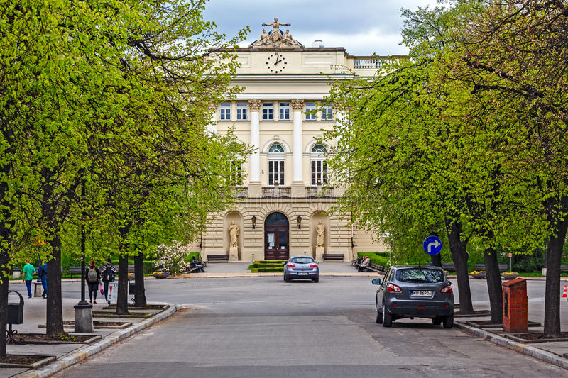 Building of the former Warsaw University Library royalty free stock images